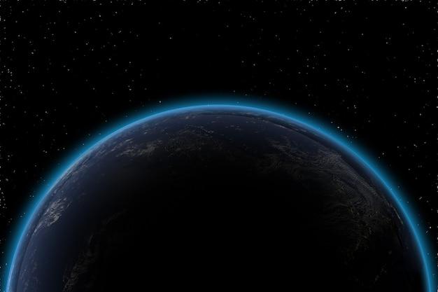 Hochdetaillierter erdplanet in der galaxie