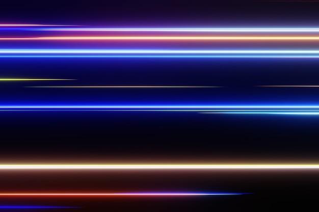 Hochgeschwindigkeits-3d-rendering des digitalen netzwerkhintergrunds des abstrakten technologie-lichtversuchs