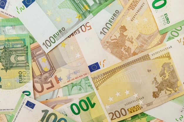 Hochwertige textur von euro-banknoten