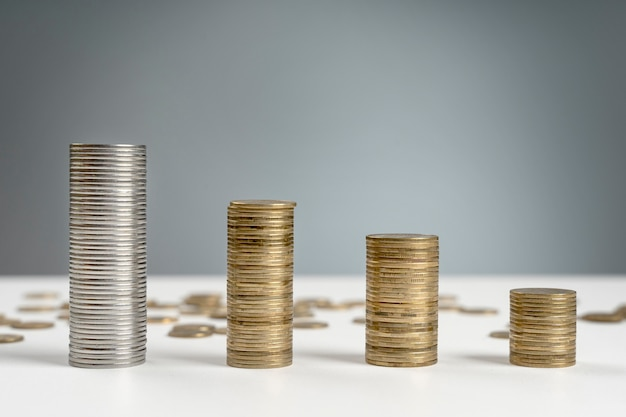 Hochwinkelstapel münzen