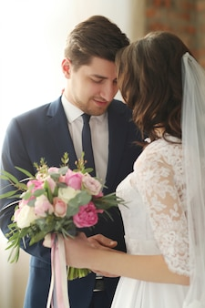 Hochzeit, braut und bräutigam