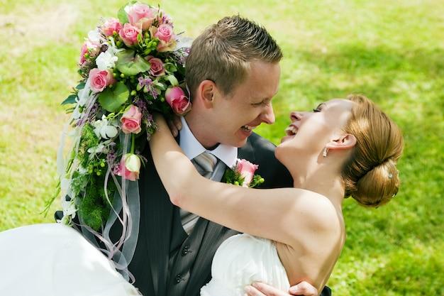 Hochzeit, glückliches paar