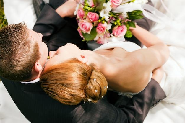 Hochzeit, zärtlichkeit