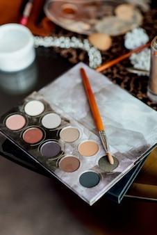 Hochzeits-make-up und make-up-tools