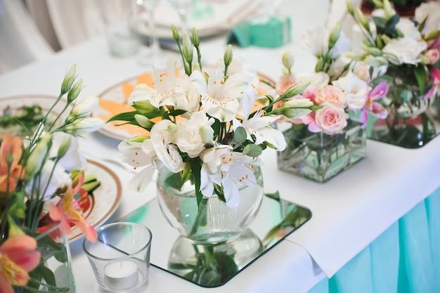 Hochzeitsbankett in einem restaurant, party in einem restaurant