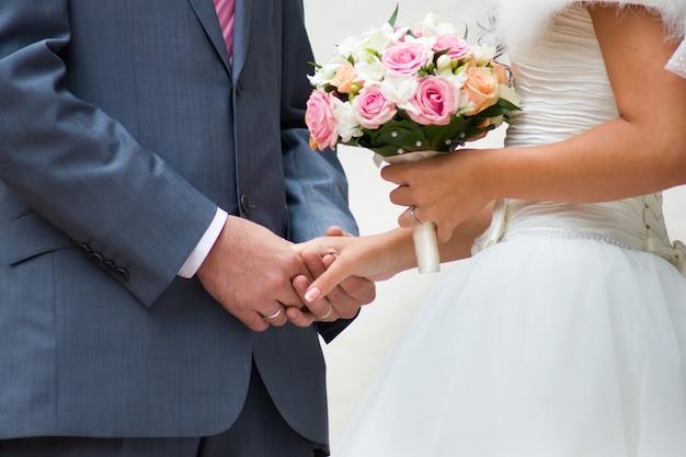 Hochzeitsbild von braut und bräutigam