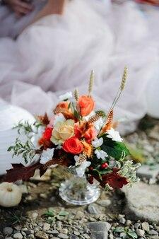 Hochzeitsdekor im stil des boho