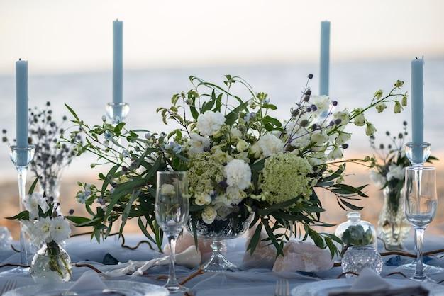 Hochzeitsdekoration am strand