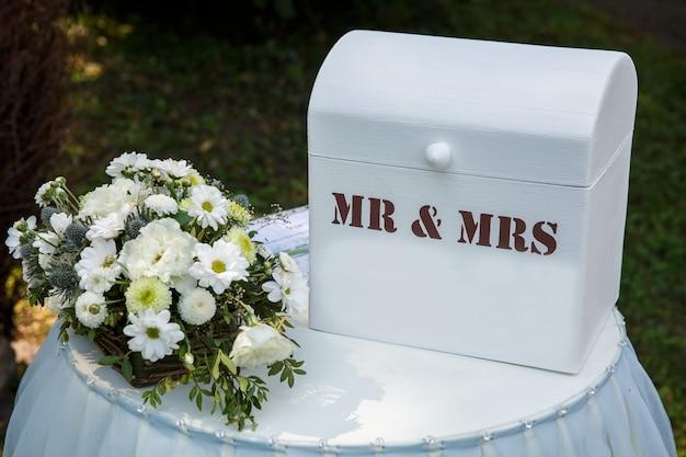 Hochzeitsdekoration für die zeremonie