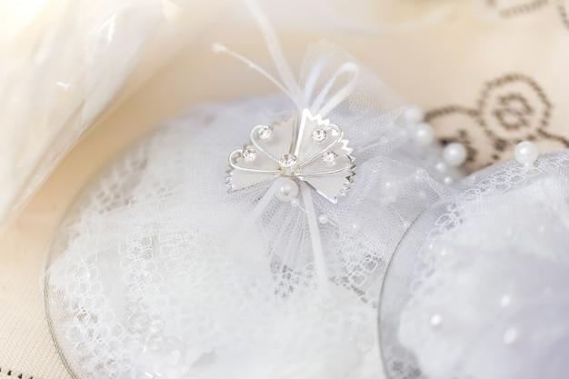 Hochzeitsdekoration getönten foto
