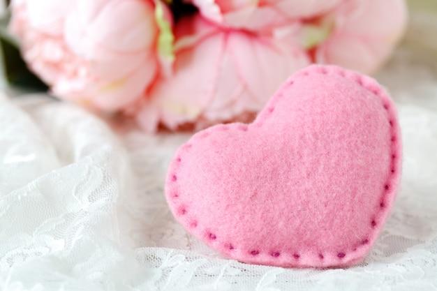 Hochzeitsdekoration in rosa farbe