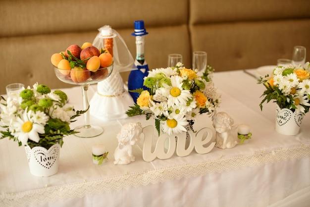 Hochzeitsdekoration.