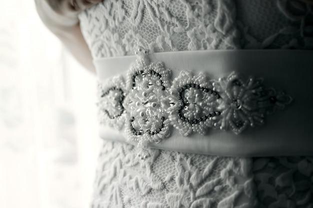 Hochzeitskleid hautnah
