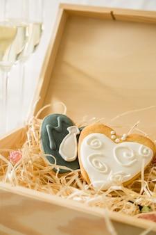 Hochzeitsküche von braut und bräutigam