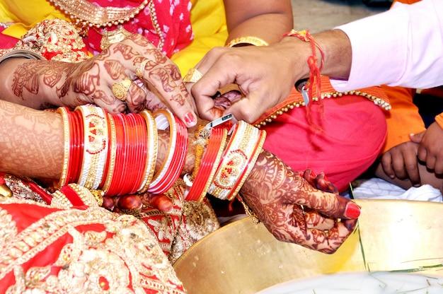 Hochzeitsritual in indien