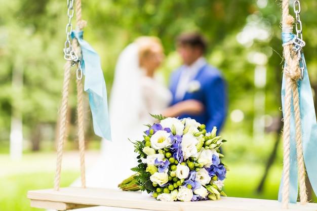 Hochzeitsstrauß nahaufnahme