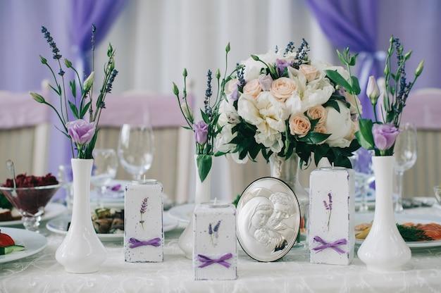 Hochzeitstische für feines essen oder andere veranstaltungen