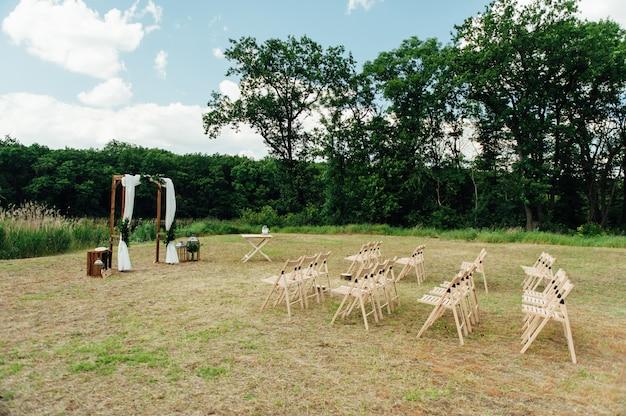Hochzeitszeremonie dekoration