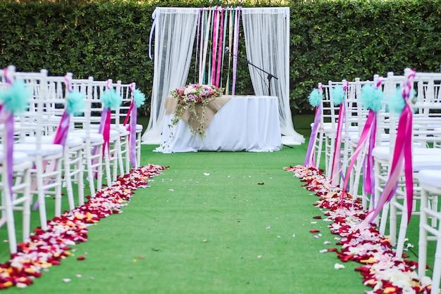 Hochzeitszeremoniedekoration im freien