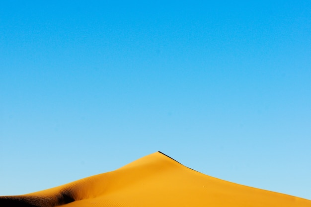 Höhepunkt einer düne am abend in der sahara