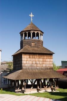 Hölzerne kirche der annahme in chortkiv, ukraine