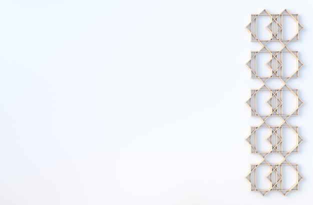 Hölzerner geometrischer würfel formt hintergrund. für design schmücken