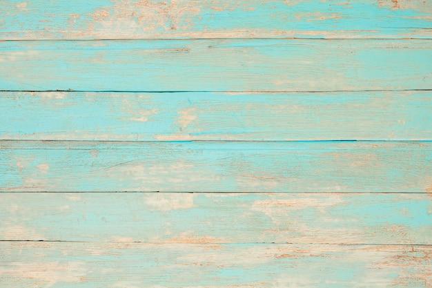 Hölzerner hintergrund des weinlesestrands - alte verwitterte hölzerne planke gemalt in der türkisblau-pastellfarbe.