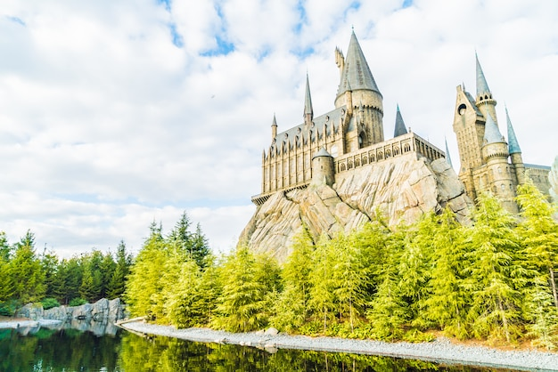 Hogwarts school of witchcraft castle und zauberei replik