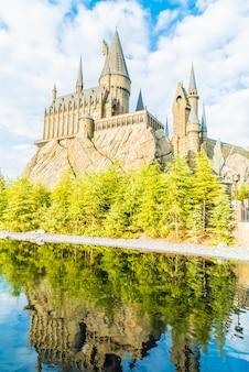 Hogwarts school of witchcraft castle und zauberei replik