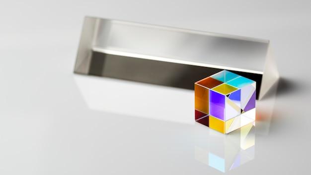 Hohe ansicht abstrakte lichter prismeneffekt