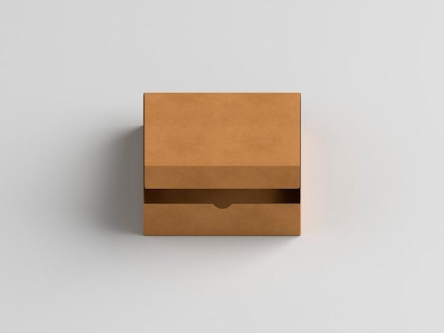 Hohe ansicht des braunen kopierraumkartons