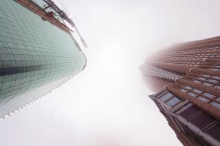 Hohen wolkenkratzern