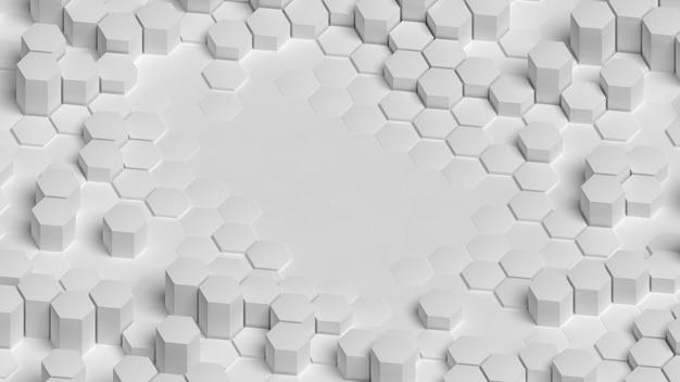 Hoher blick weißer dreidimensionaler hintergrundkopierraum