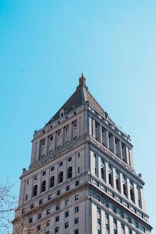 Hohes bürogebäude von new york city