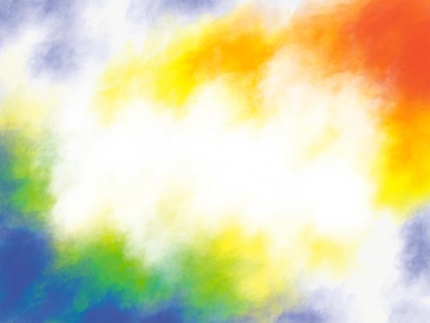 Holi festival hintergrunddesign von bunten pinselstrichen mit kopienraum