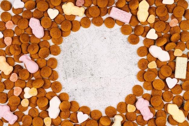 Holländischer feiertag sinterklaas mit traditionellen bonbons