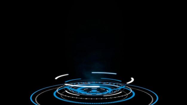 Hologramm-hud-kreisschnittstellen