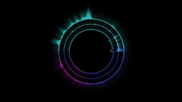 Hologramm musik equalizer