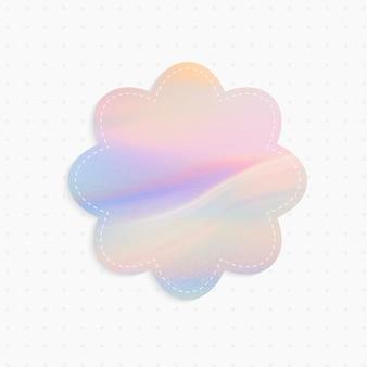 Holographische papiernotiz mit blumenform