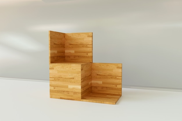 Holz 3d rendering produkt stehen isoliert