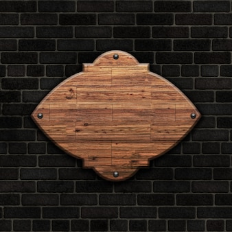 Holz auf ziegelsteinen