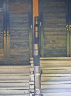 Holz exotischen tür