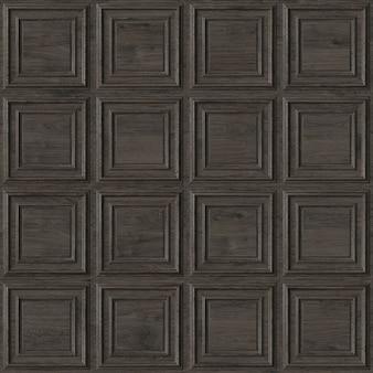 Holz quadratische dekorative paneele nahtlose muster 3d-darstellung