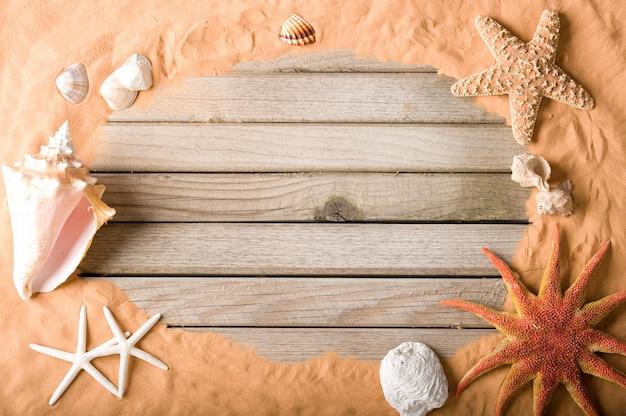 Holz und sand hintergrund