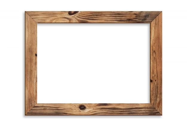 Holzbilderrahmen isoliert