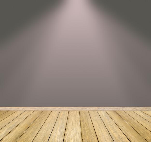Holzboden und graue wand