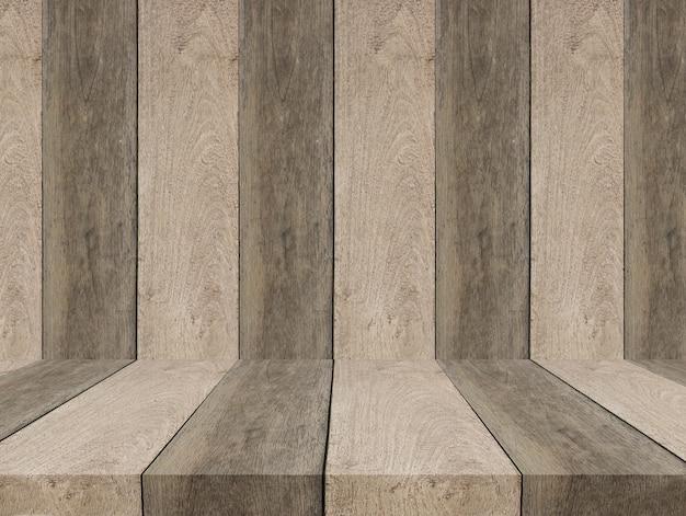 Holzboden und raum leer