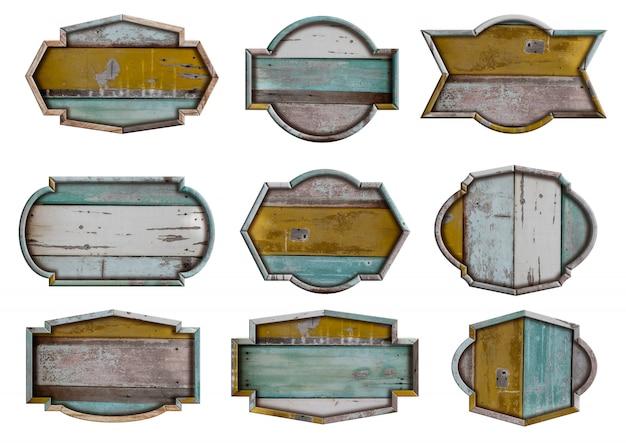 Holzbrett-zeichensatz
