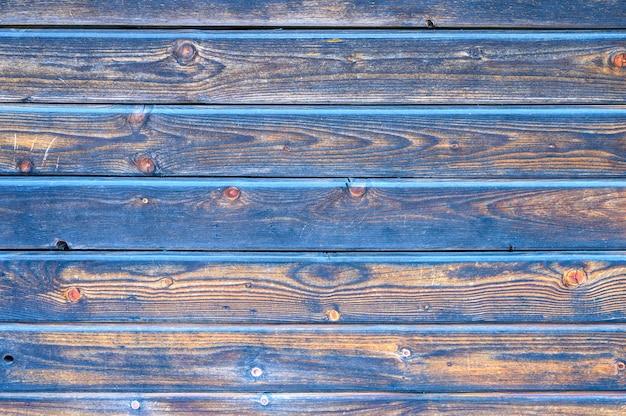 Holzbretter hintergrund. gealterte verbrannte schwarze und blaue holzbretter