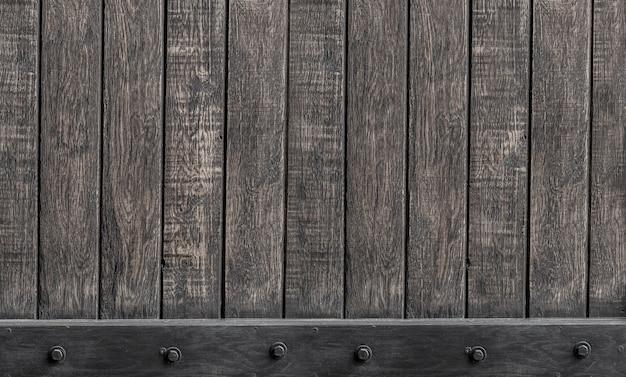 Holzbretter mit schwarzer metallstange